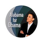 Alabama for Obama Extra Big Button