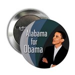 Ten Alabama for Obama Buttons (Bulk Rate)