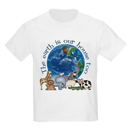 The Earth Is Our House Too Kids Light T-Shirt