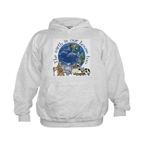 The Earth Is Our House Too Kids Hoodie