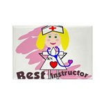 Best INSTRUCTOR NURSE GIRL WHITE UNIFORM Magnets