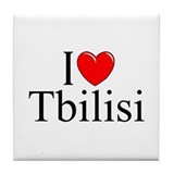 """I Love Tbilisi"" Tile Coaster"