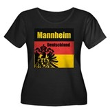 Mannheim Deutschland  Women's Plus Size Scoop Neck