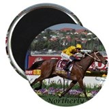 "Horse racing 2.25"" Round Magnet (10 pack)"