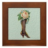 Shoe Vase 1 Framed Tile