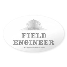 Field Engineer Oval Decal