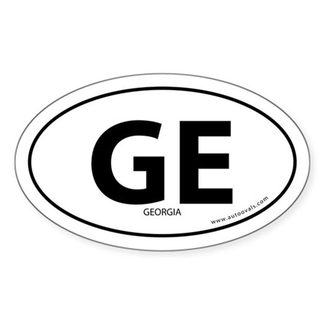 Georgia country bumper sticker -White (Oval)