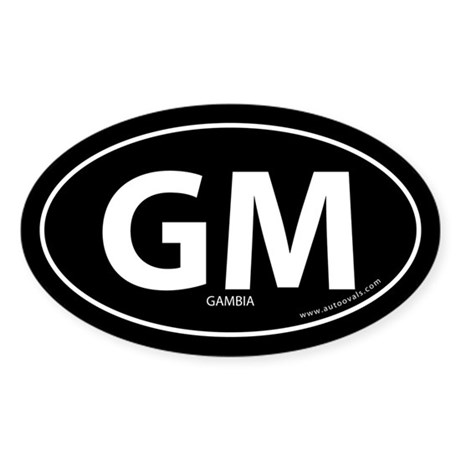 Gambia country bumper sticker -Black (Oval)