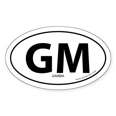 Gambia country bumper sticker -White (Oval)