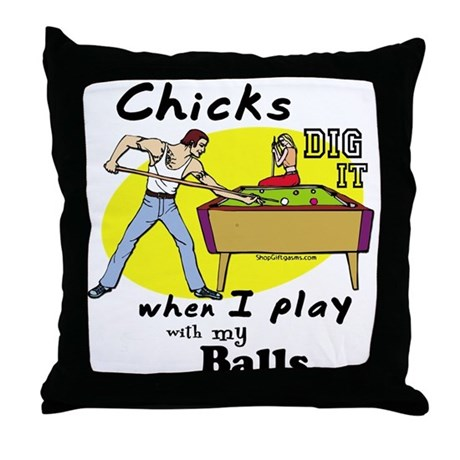 Suggestive Billiards Throw Pillow