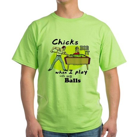 Suggestive Billiards Green T-Shirt