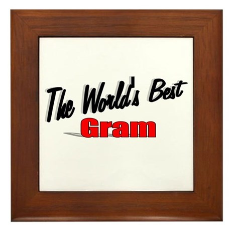 """The World's Best Gram"" Framed Tile"
