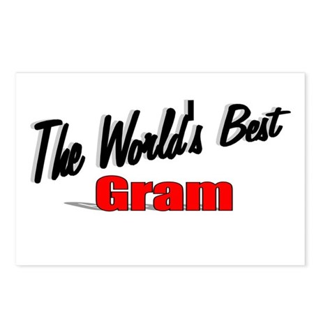 """The World's Best Gram"" Postcards (Package of 8)"