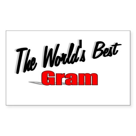"""The World's Best Gram"" Rectangle Sticker"