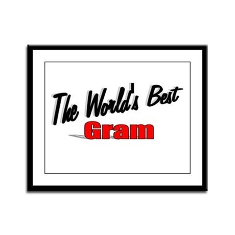 """The World's Best Gram"" Framed Panel Print"