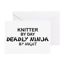 Knitter Deadly Ninja Greeting Cards (Pk of 10)