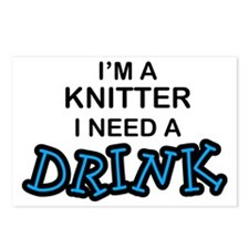 Knitter Need a Drink Postcards (Package of 8)