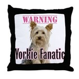 Yorkie Fanatic - Throw Pillow