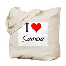 I Love Saint Lucia Tote Bag