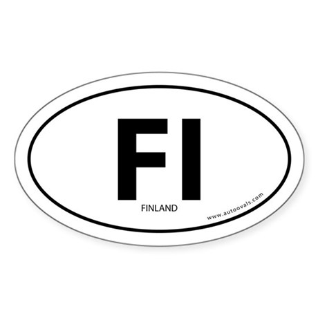 Finland country bumper sticker -White (Oval)