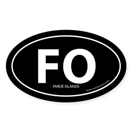 Faroe Islands country bumper sticker -Black (Oval)