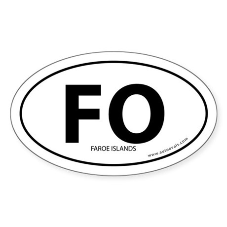 Faroe Islands country bumper sticker -White (Oval)