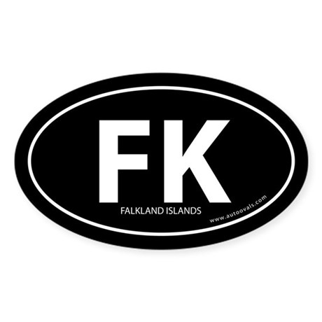Falkland Islands bumper sticker -Black (Oval)
