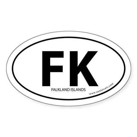 Falkland Islands bumper sticker -White (Oval)