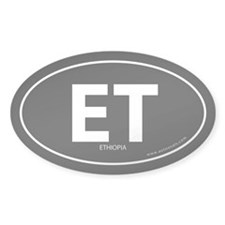 Ethiopia country bumper sticker -Black (Oval)