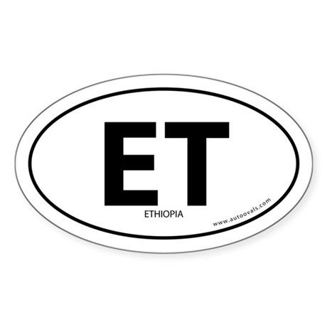 Ethiopia country bumper sticker -White (Oval)