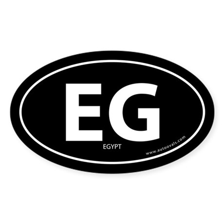 Egypt country bumper sticker -Black (Oval)