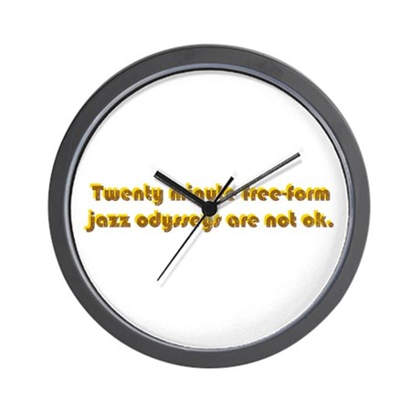 Freeform Jazz Not OK Wall Clock