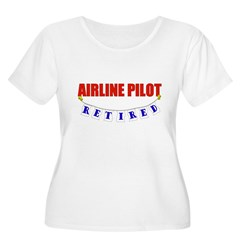 Retired Airline Pilot Women's Plus Size Scoop Neck