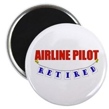 "Retired Airline Pilot 2.25"" Magnet (100 pack)"
