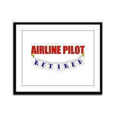 Retired Airline Pilot Framed Panel Print