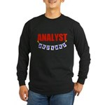 Retired Analyst Long Sleeve Dark T-Shirt