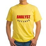 Retired Analyst Yellow T-Shirt