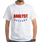 Retired Analyst White T-Shirt