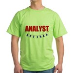 Retired Analyst Green T-Shirt