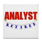 Retired Analyst Tile Coaster