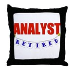 Retired Analyst Throw Pillow