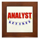 Retired Analyst Framed Tile