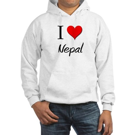 I Love Nauru Hooded Sweatshirt
