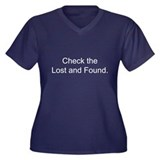 Check the Lost and Found Women's Plus Size V-Neck