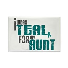 I Wear Teal For My Aunt 6 Rectangle Magnet (10 pac
