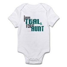 I Wear Teal For My Aunt 6 Infant Bodysuit