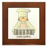 Cookie Goddess Framed Tile