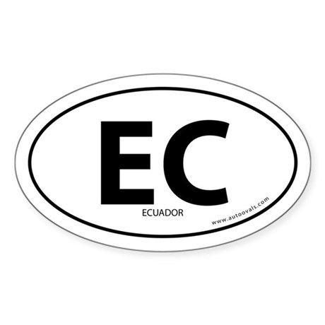 Ecuador country bumper sticker -White (Oval)