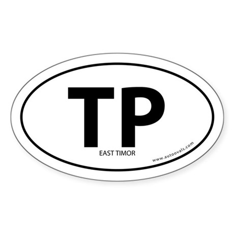 East Timor country bumper sticker -White (Oval)