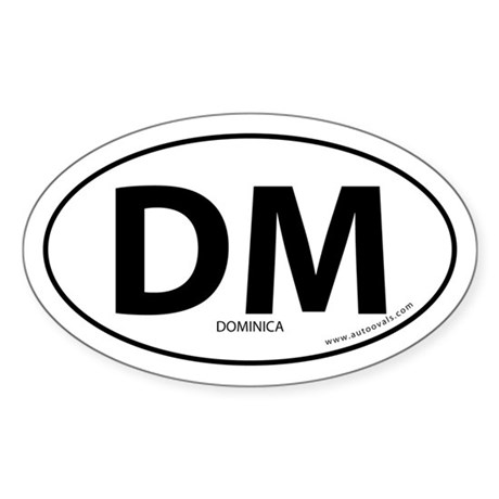 Dominica country bumper sticker -White (Oval)